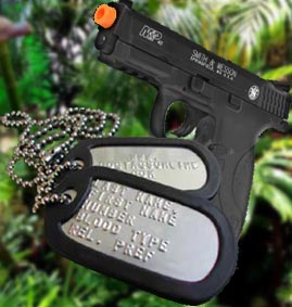 airsoft warrior dog tag