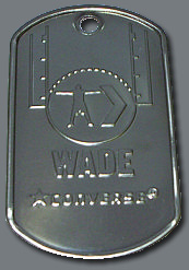 stamped logo dog tags