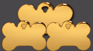 gold pet id tags