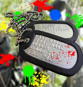 Paintball Airsoft Bachelor Stag Party Dog Tags