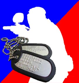 paintball protection dog tags