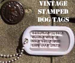 WW2, Korea, Vietnam dog tags