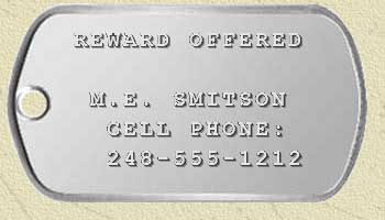 sample key tag text
